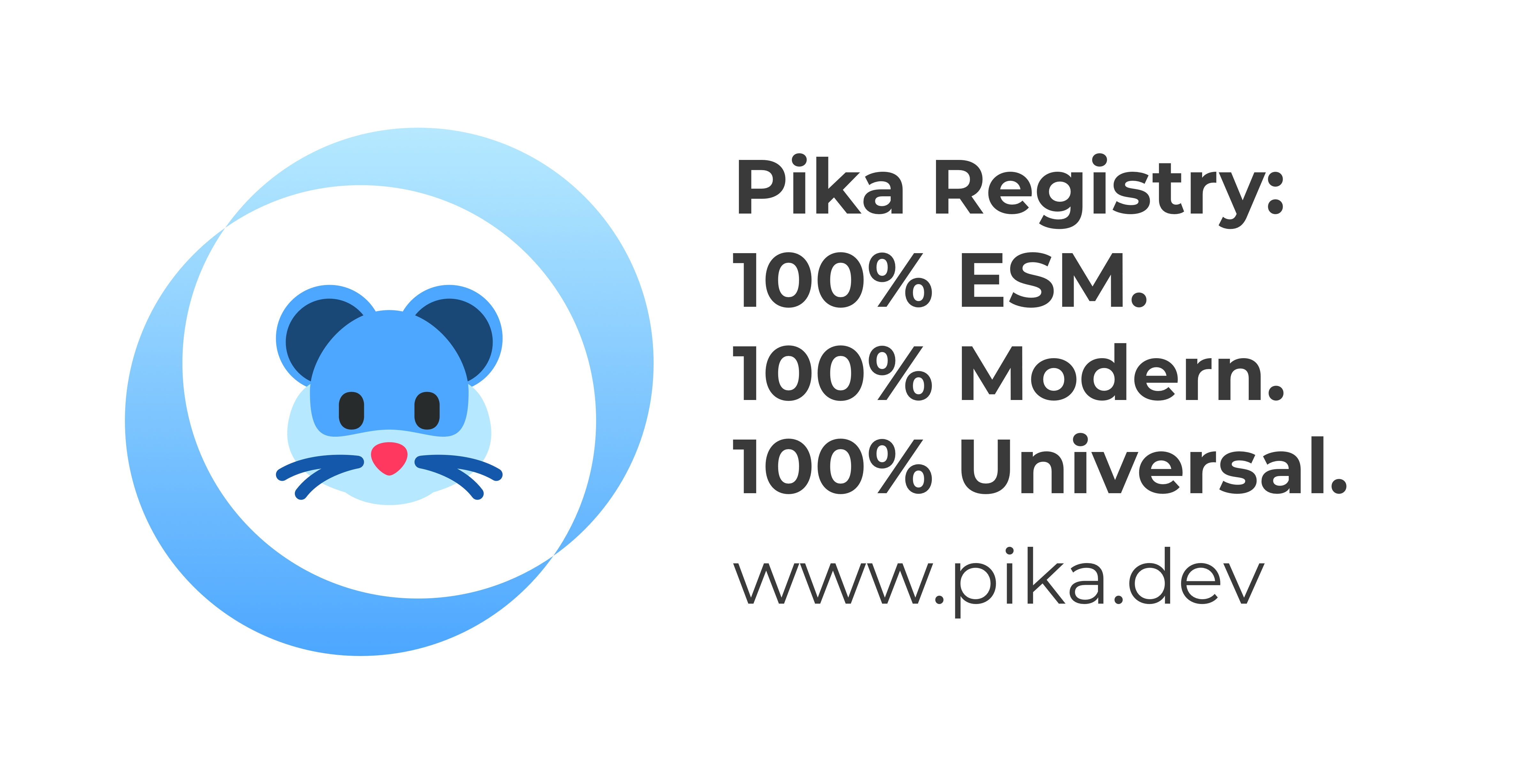 Pika - A new kind of package registry for the modern web.